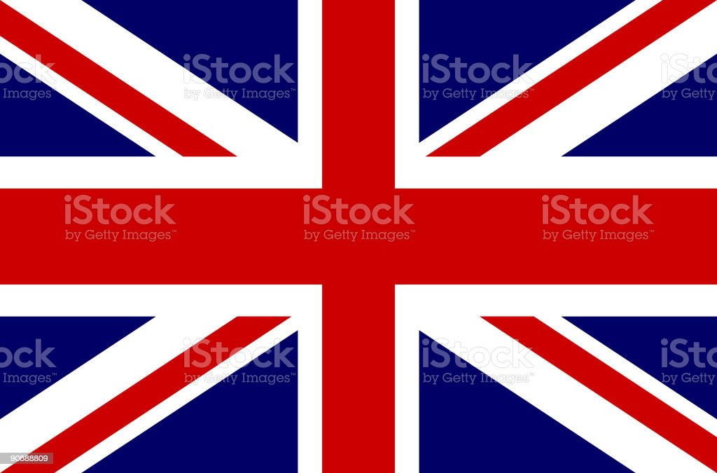 Flag of United Kingdom - Vector royalty-free flag of united kingdom vector stock vector art & more images of awe
