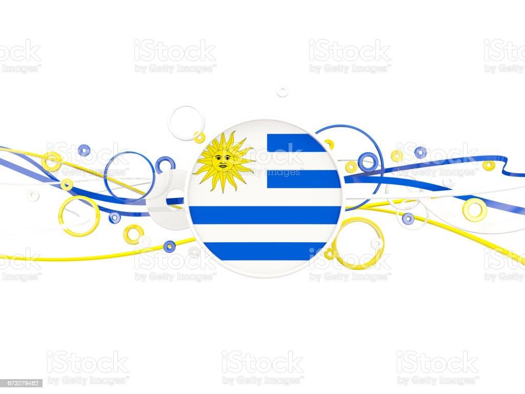 Bandera de uruguay, patrón de círculos con líneas - ilustración de arte vectorial