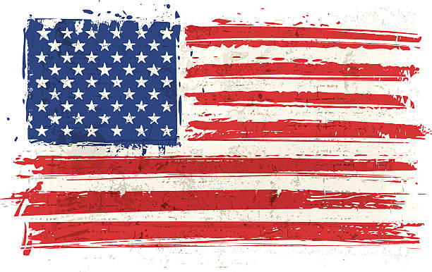 アメリカ国旗の壁 - アメリカの国旗点のイラスト素材/クリップアート素材/マンガ素材/アイコン素材