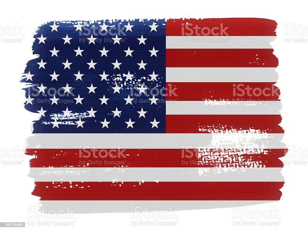 USA  Flag Paint royalty-free stock vector art