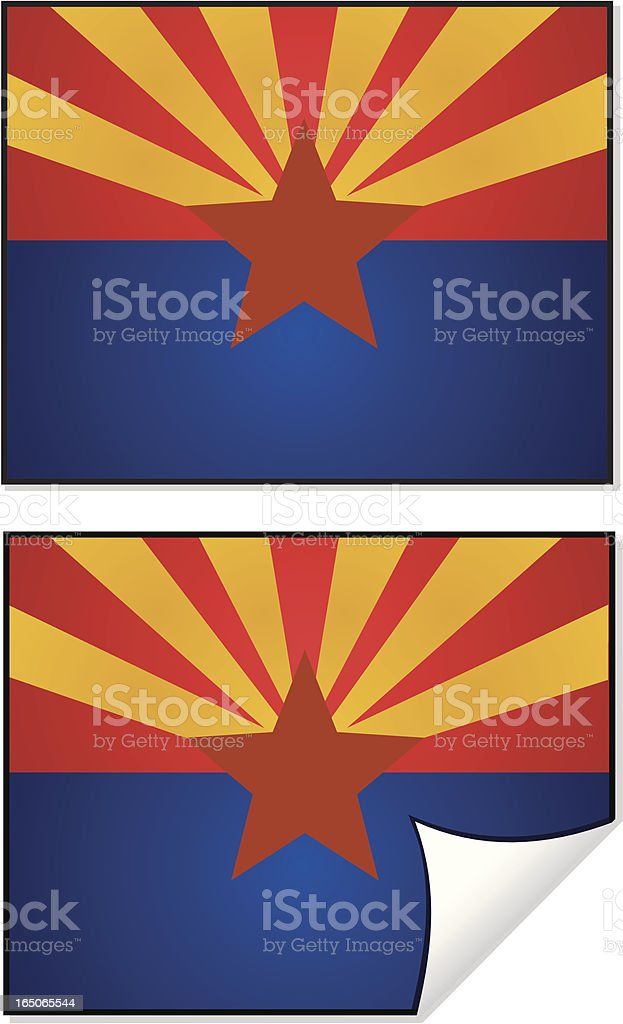 Flag Series Arizona vector art illustration