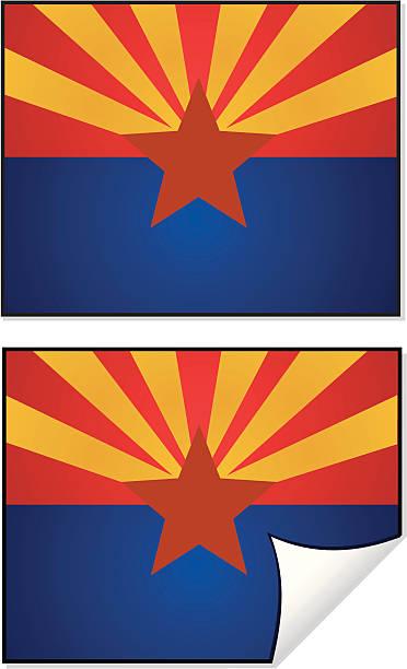 Flag Series Arizona vector art illustration