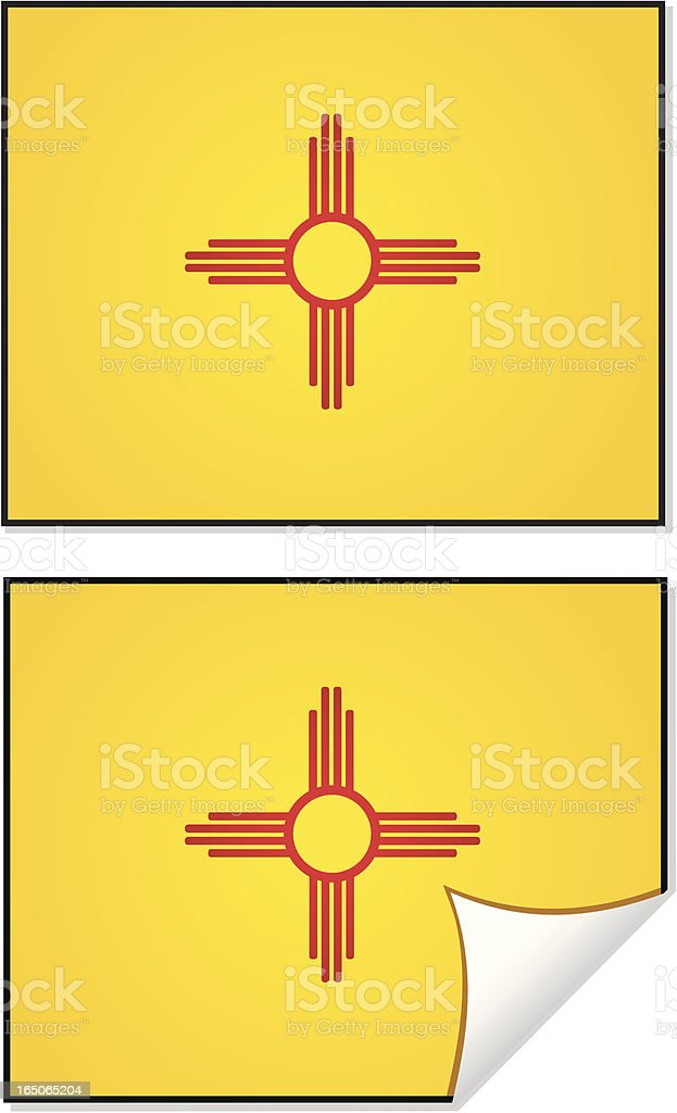 Flag Series New Mexico royalty-free stock vector art