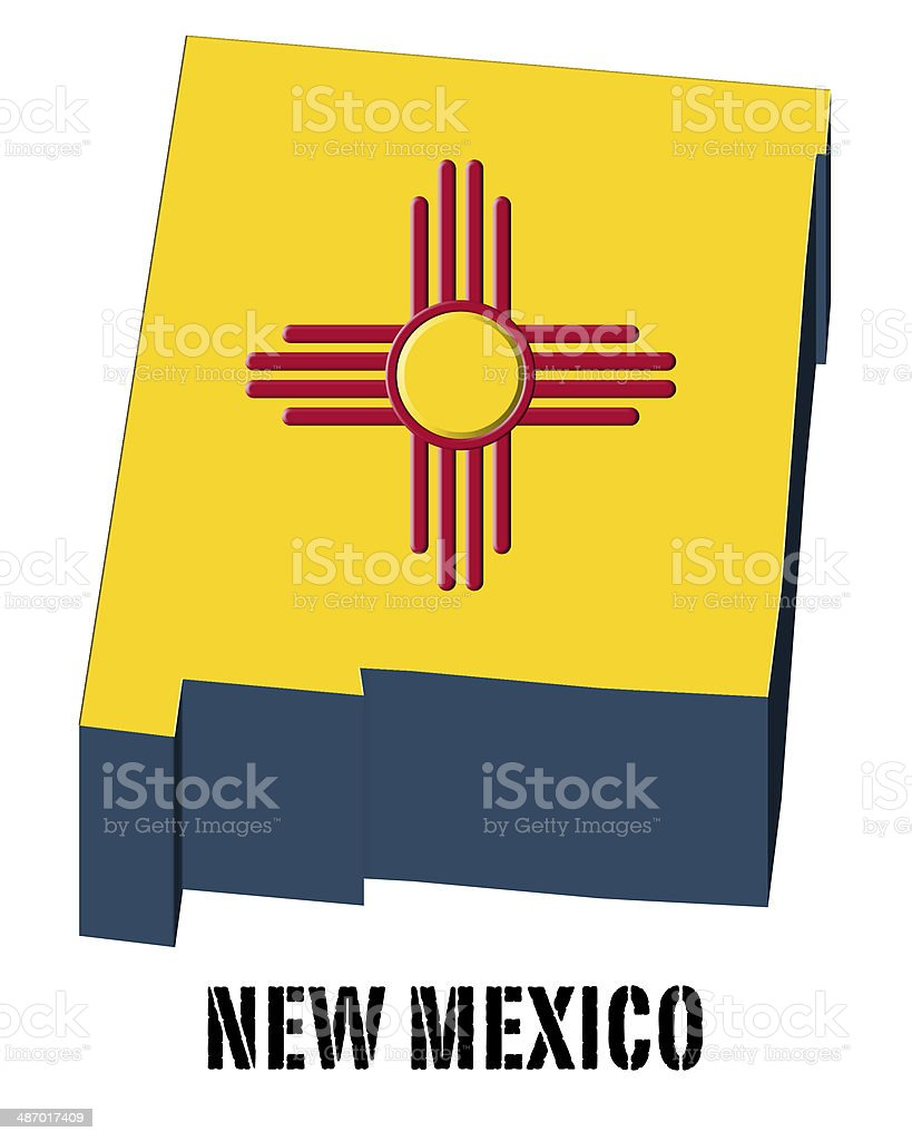 3d flag state of new mexico united states america stock vector art 3d flag state of new mexico united states america royalty free 3d flag state of buycottarizona