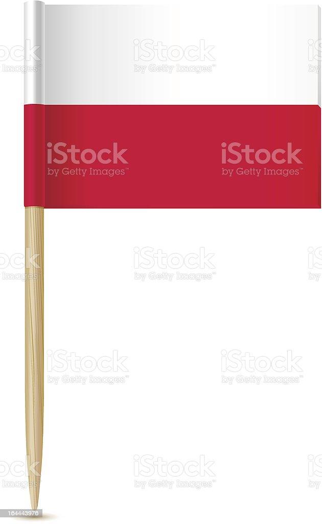 Flag toothpick Poland royalty-free stock vector art