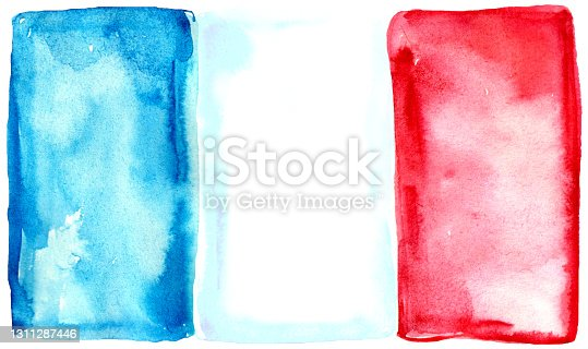 istock Flag watercolor France 1311287446