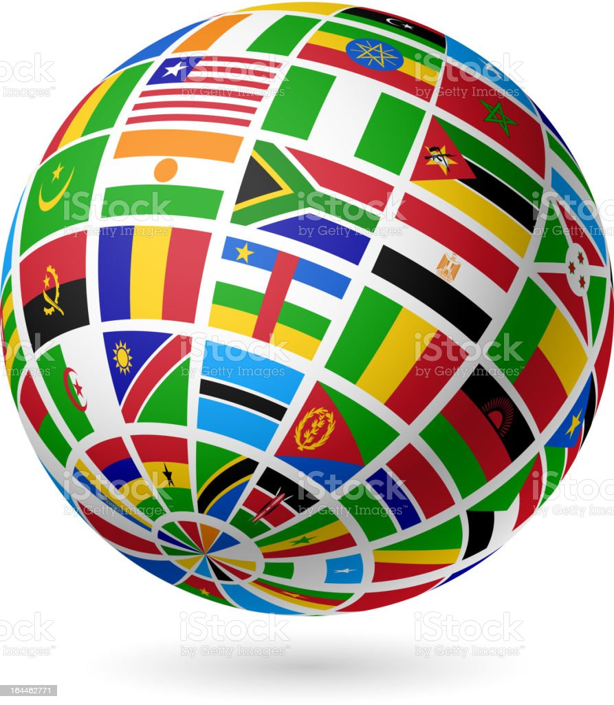 Flags globe. Africa. royalty-free flags globe africa stock vector art & more images of