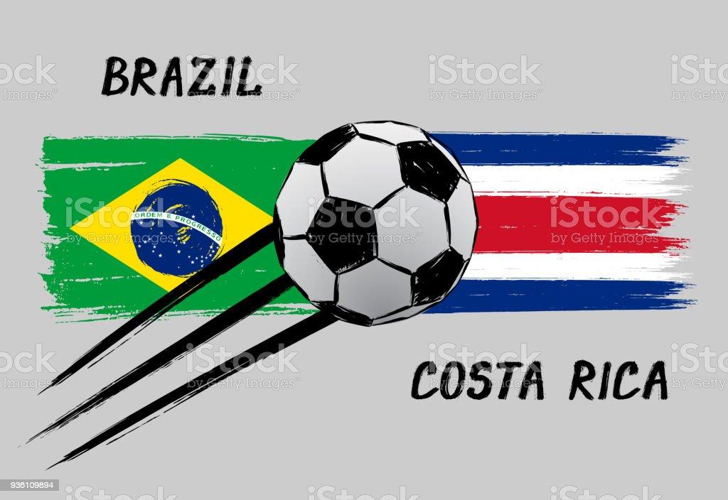 flagge brasilien und costa rica symbol f 252 r fu 223 ballem