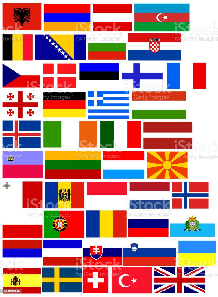 45 flags of Europe - vector. All European countries flags in set royalty-free 45 flags of europe vector all european countries flags in set stock vector art & more images of austria