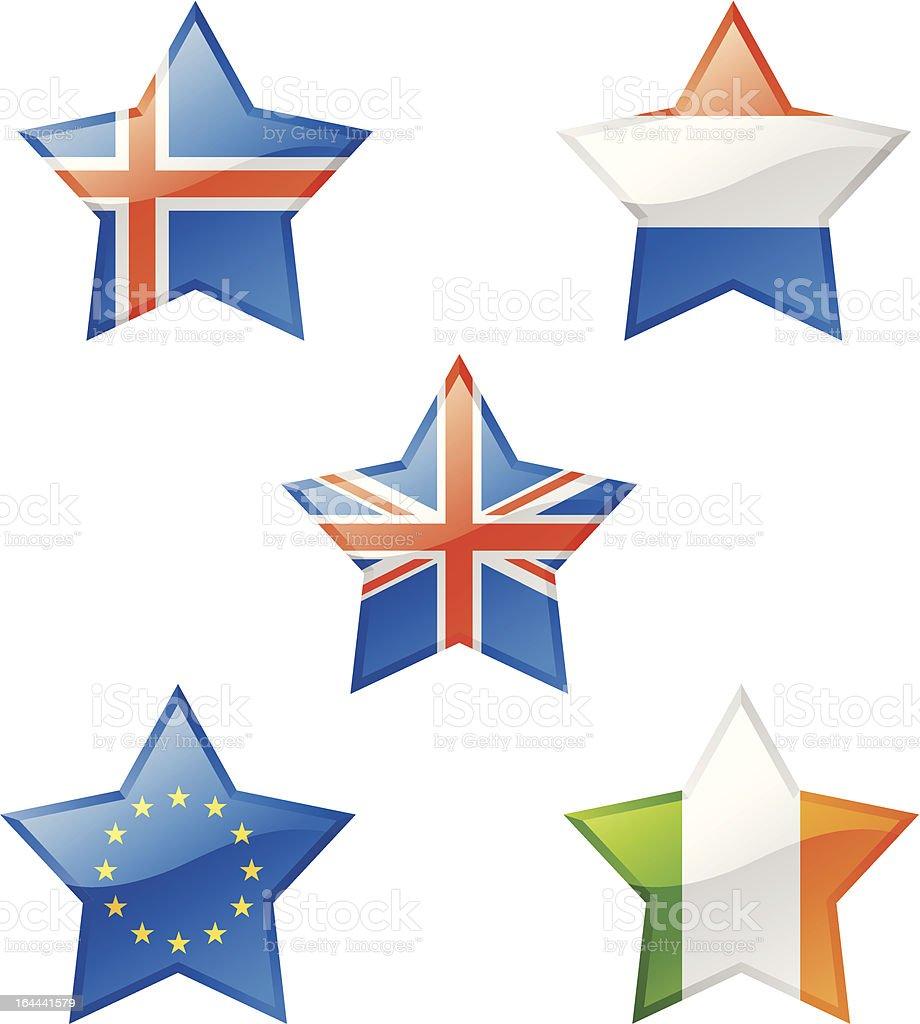 Flaggen-Sterne – Vektorgrafik