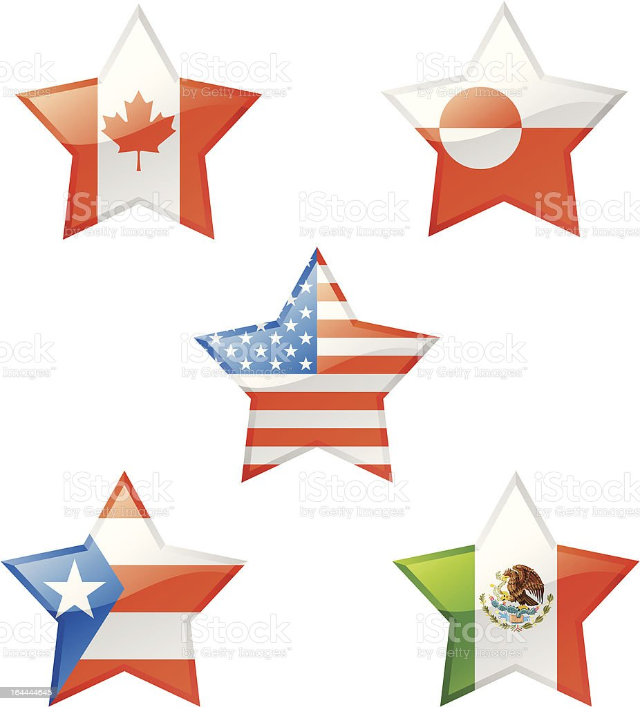 Flags star royalty-free stock vector art