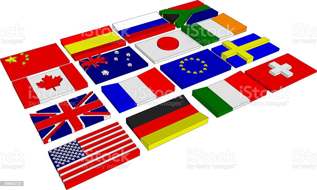 3D Flags Vector royalty-free 3d flags vector stock vector art & more images of british flag