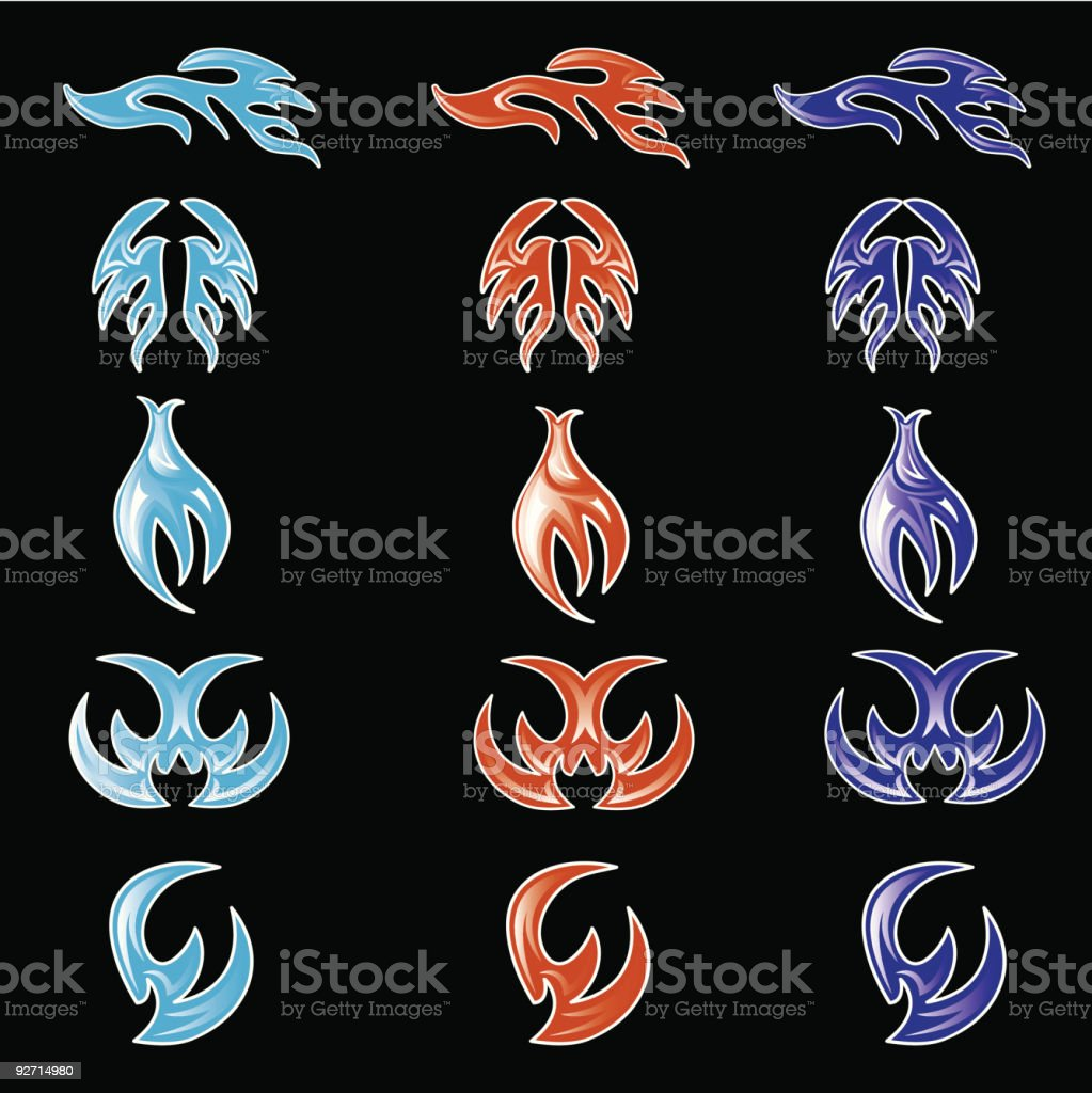 Flame Set royalty-free flame set stock vector art & more images of art