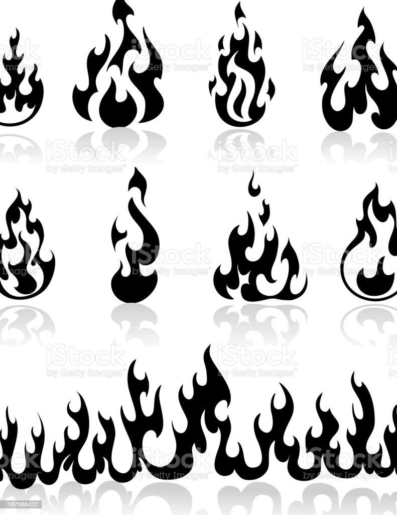 Flame Tribal vector art illustration