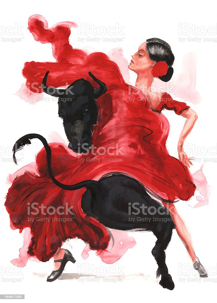 flamenco. - ilustración de arte vectorial