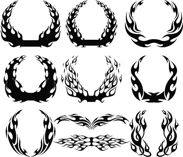 フレームズパック - 炎のタトゥー点のイラスト素材/クリップアート素材/マンガ素材/アイコン素材