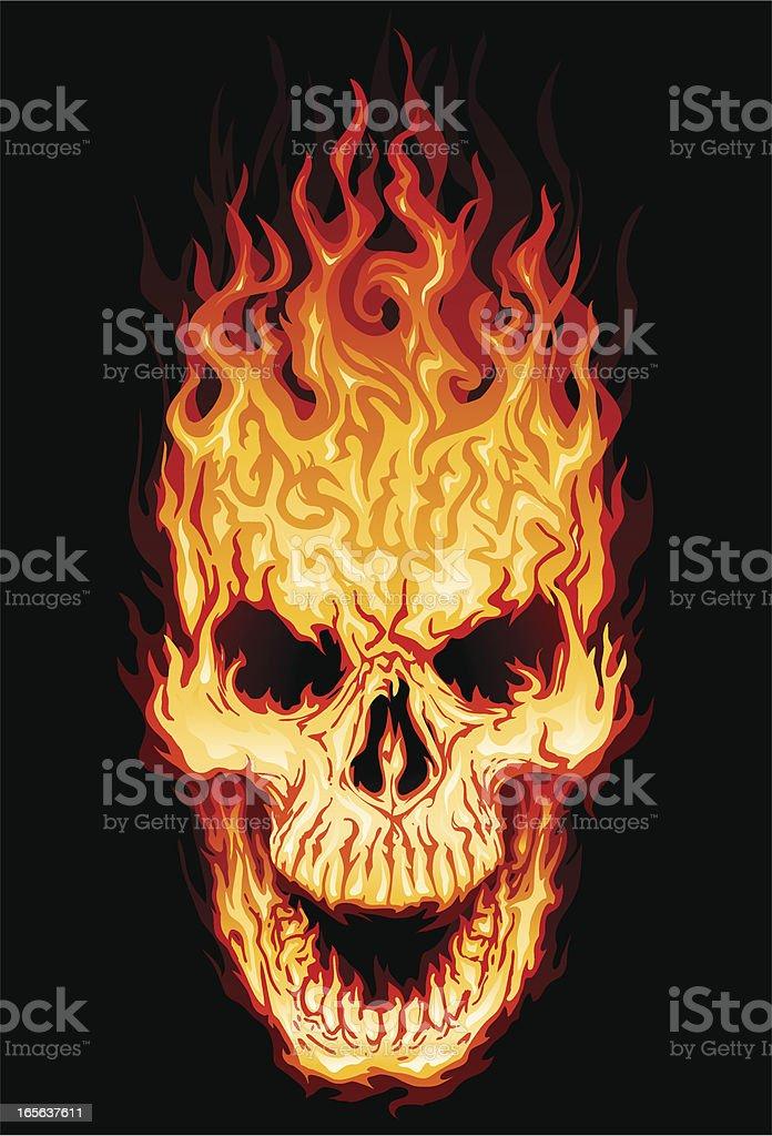 Flaming Totenkopf – Vektorgrafik