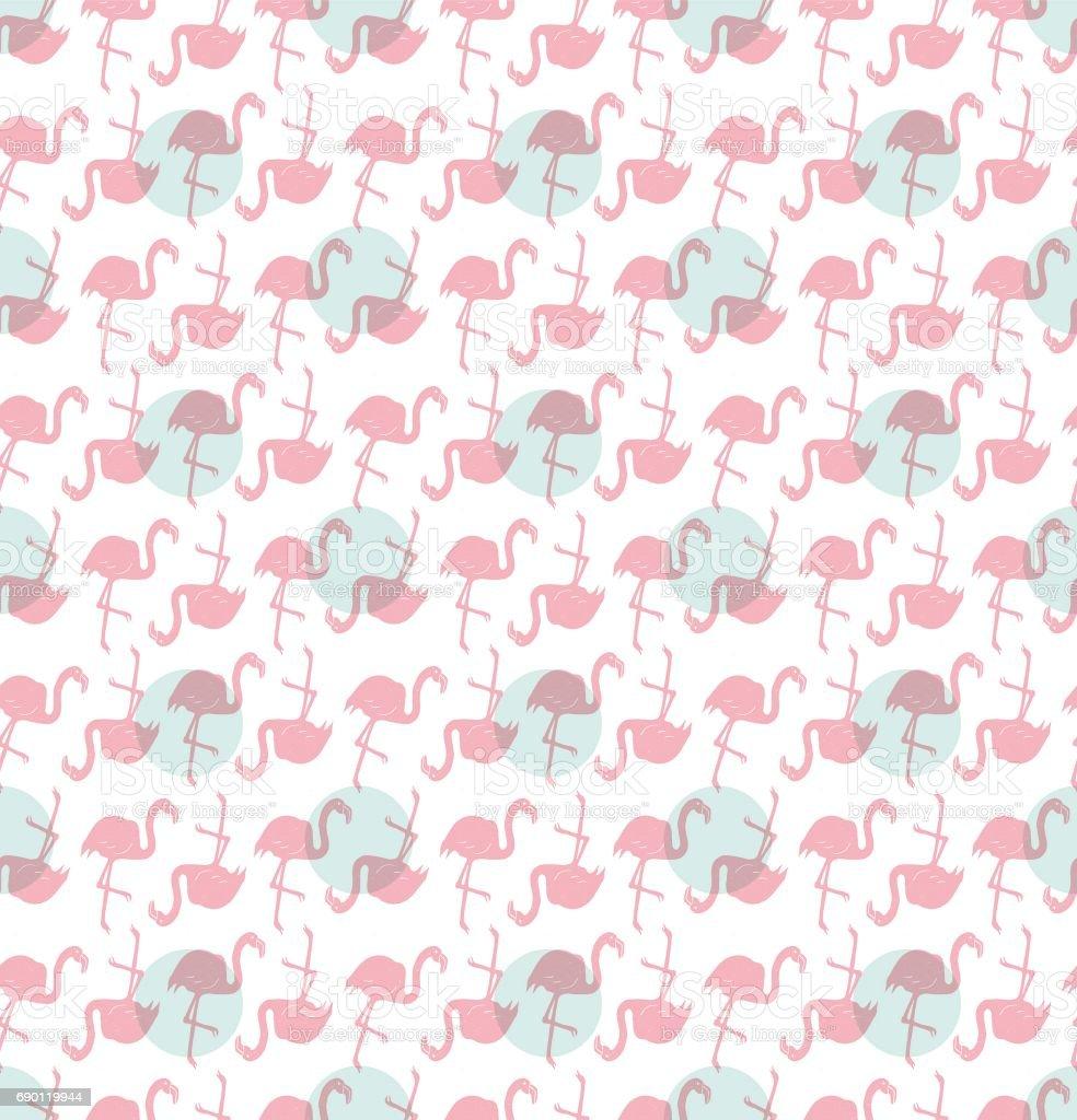 Flamingo patroon naadloosvectorkunst illustratie
