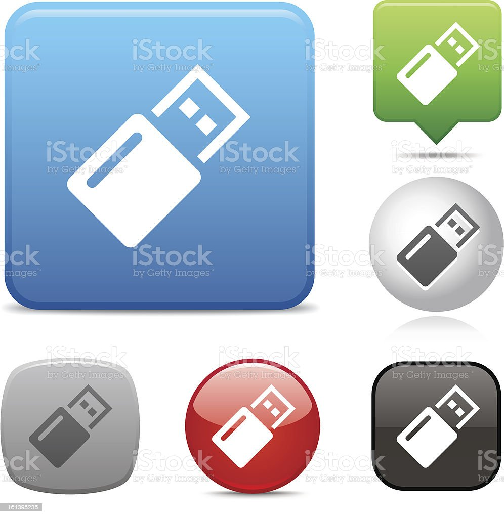 Flash Drive icon royalty-free flash drive icon stock vector art & more images of black color