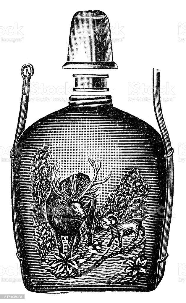 flask vector art illustration