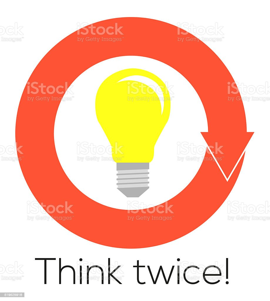 Flat illustration of lightbulb in circular arrow with think twic flat illustration of lightbulb in circular arrow with think twic royalty free flat illustration of buycottarizona Choice Image