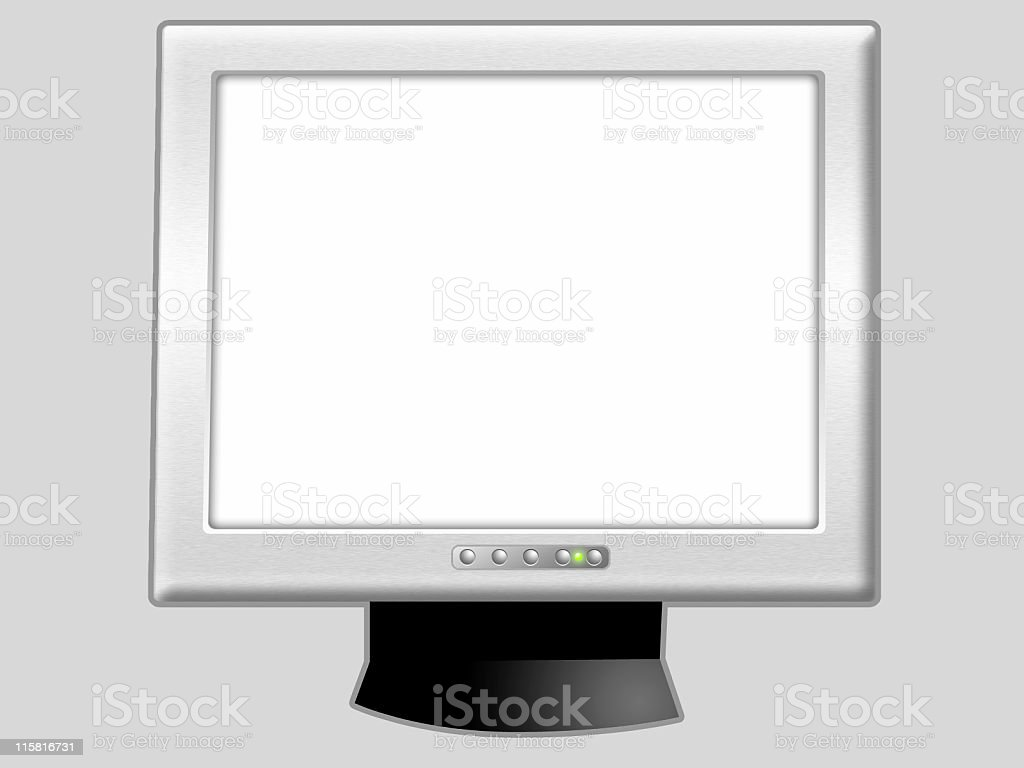 LCD Flat Screen Monitor II royalty-free stock vector art