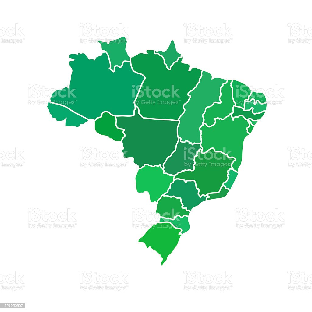 Flat simple brazil map stock vector art more images of brasilia flat simple brazil map royalty free flat simple brazil map stock vector art amp gumiabroncs Images