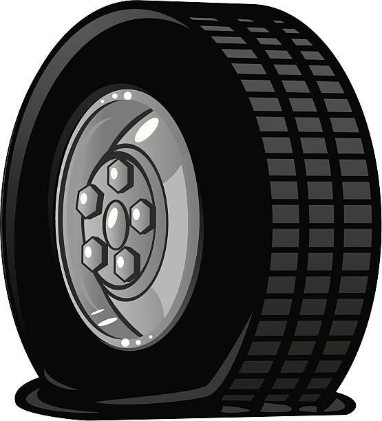 flat tire illustrations royalty  vector graphics clip art istock