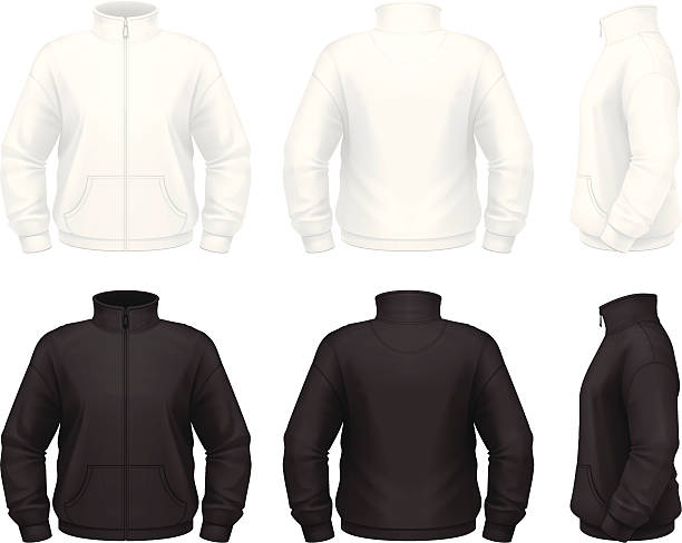 Fleece jacket vector art illustration