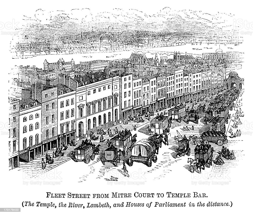 Флот Улица с Храм бар (Crystal Дворец в 1871 расстояние флот улица с храм  бар