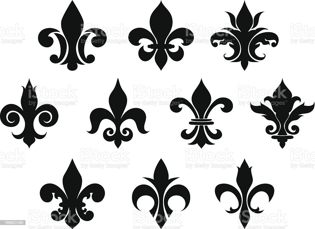Royalty Free Fleur De Lys Clip Art Vector Images Illustrations