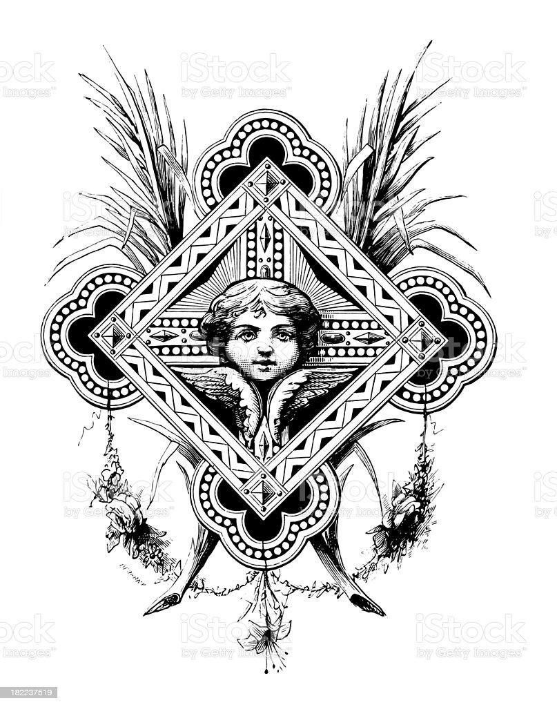 Fleuron   Antique Design Illustrations royalty-free stock vector art