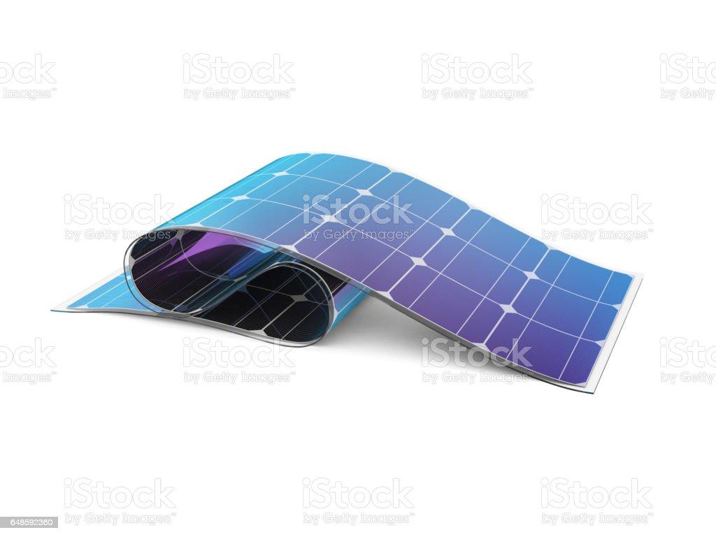 Flexible solar battery. vector art illustration