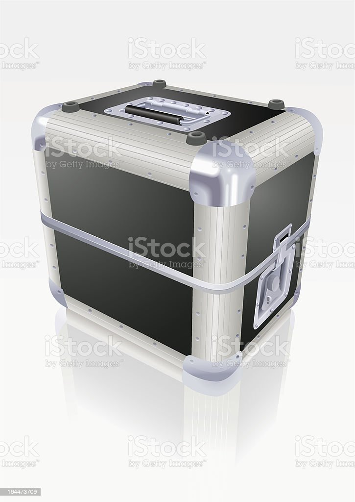 DJ flight case vector art illustration