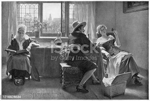 istock A Flirtation by Max Volkhart - 19th Century 1216628534
