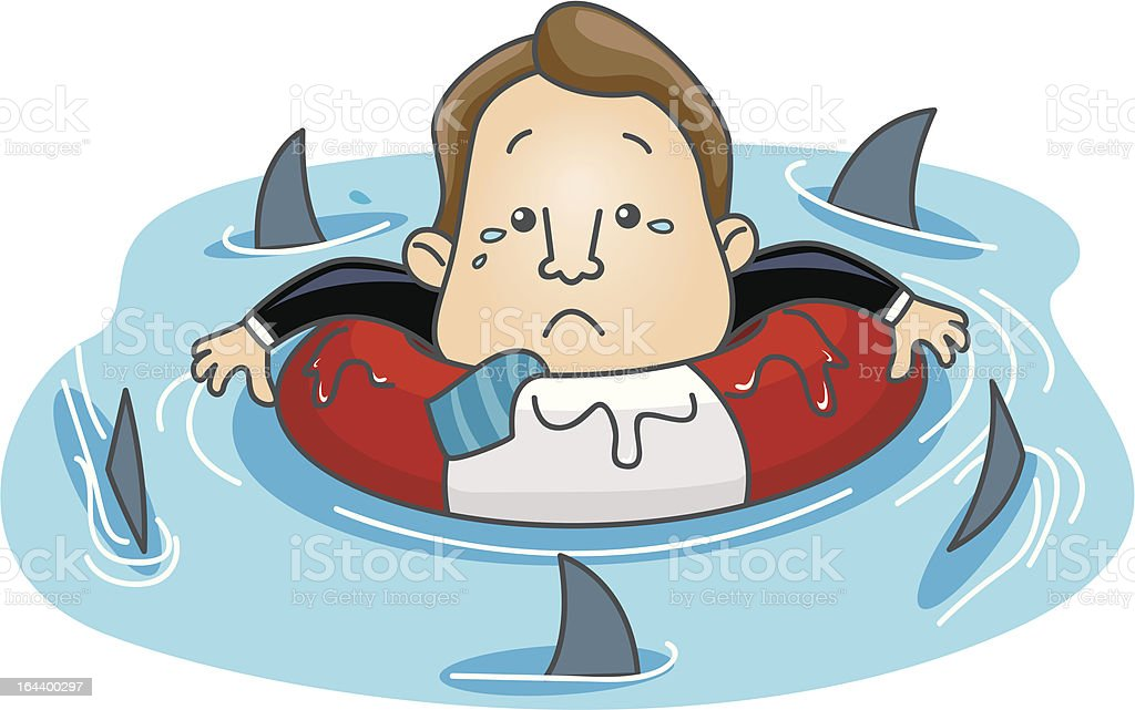 Floating among Sharks royalty-free floating among sharks stock vector art & more images of adult