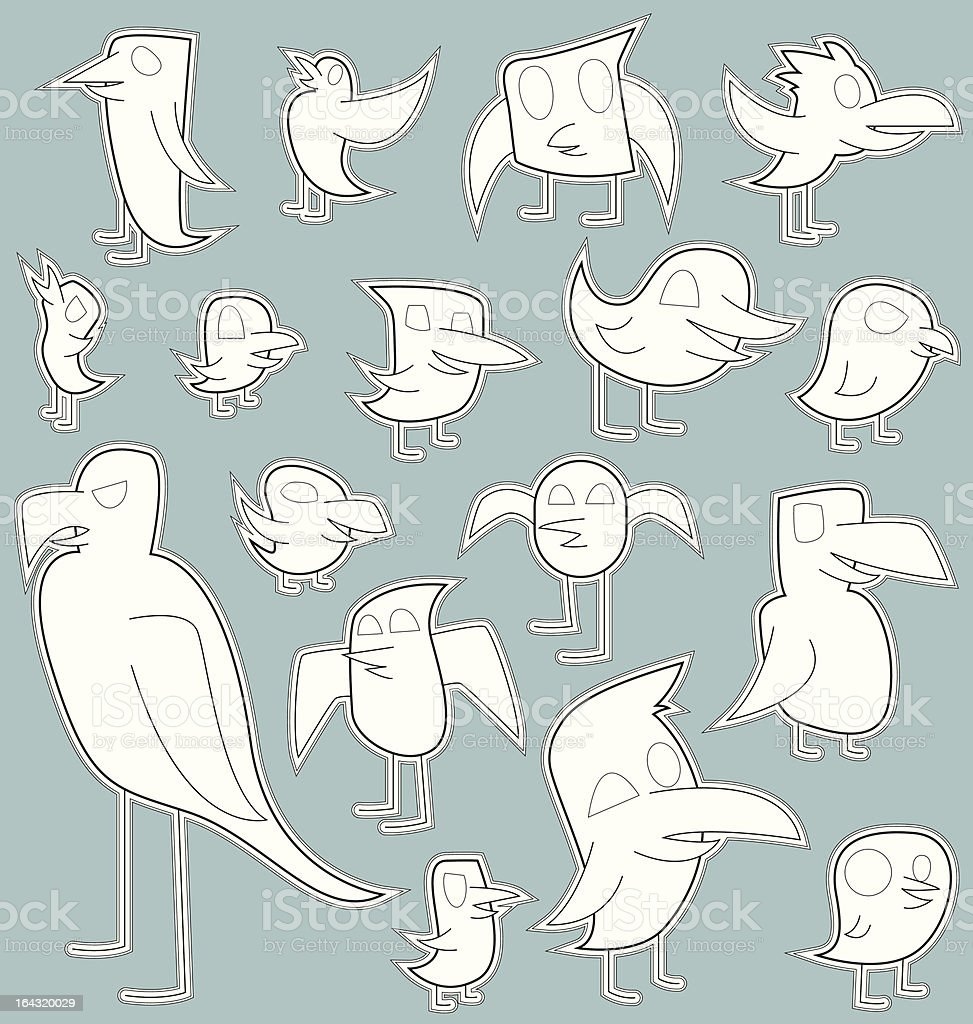 Flock of Berds royalty-free stock vector art