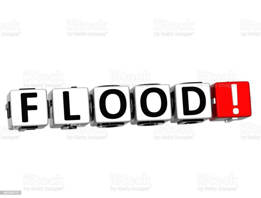Inundaciones 3D botón Click aquí bloquear texto ilustración de inundaciones 3d botón click aquí bloquear texto y más banco de imágenes de abstracto libre de derechos