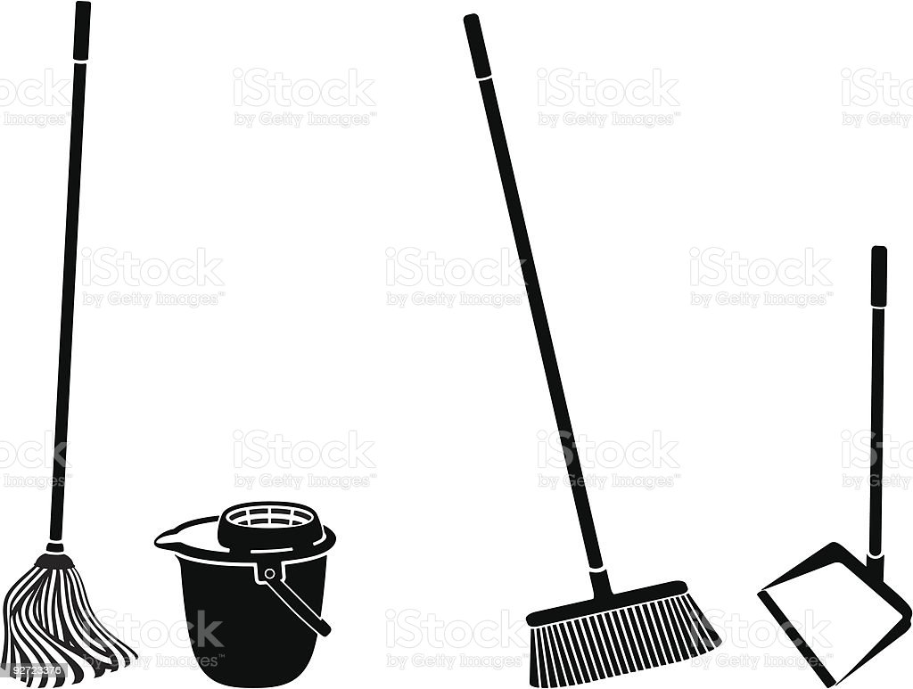 floor cleaning royalty-free floor cleaning stock vector art & more images of black color