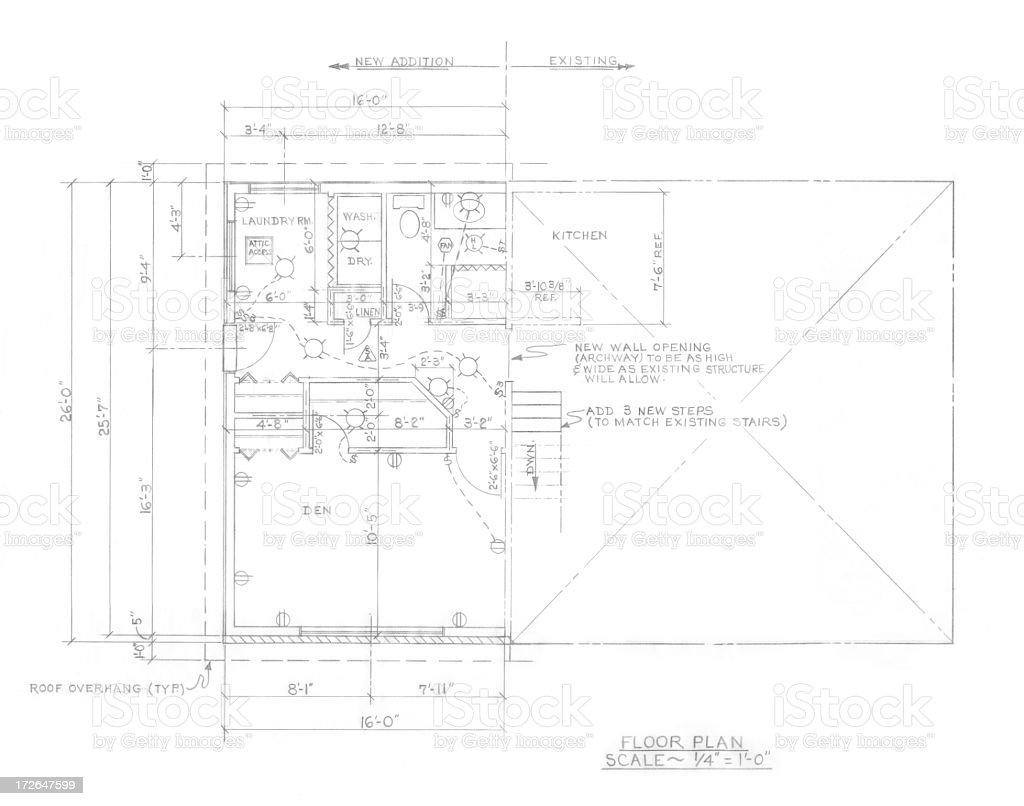 Floor plan royalty-free stock vector art