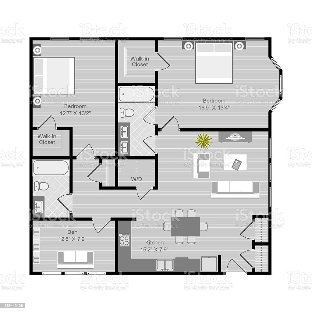 Floor plan illustration vector art illustration