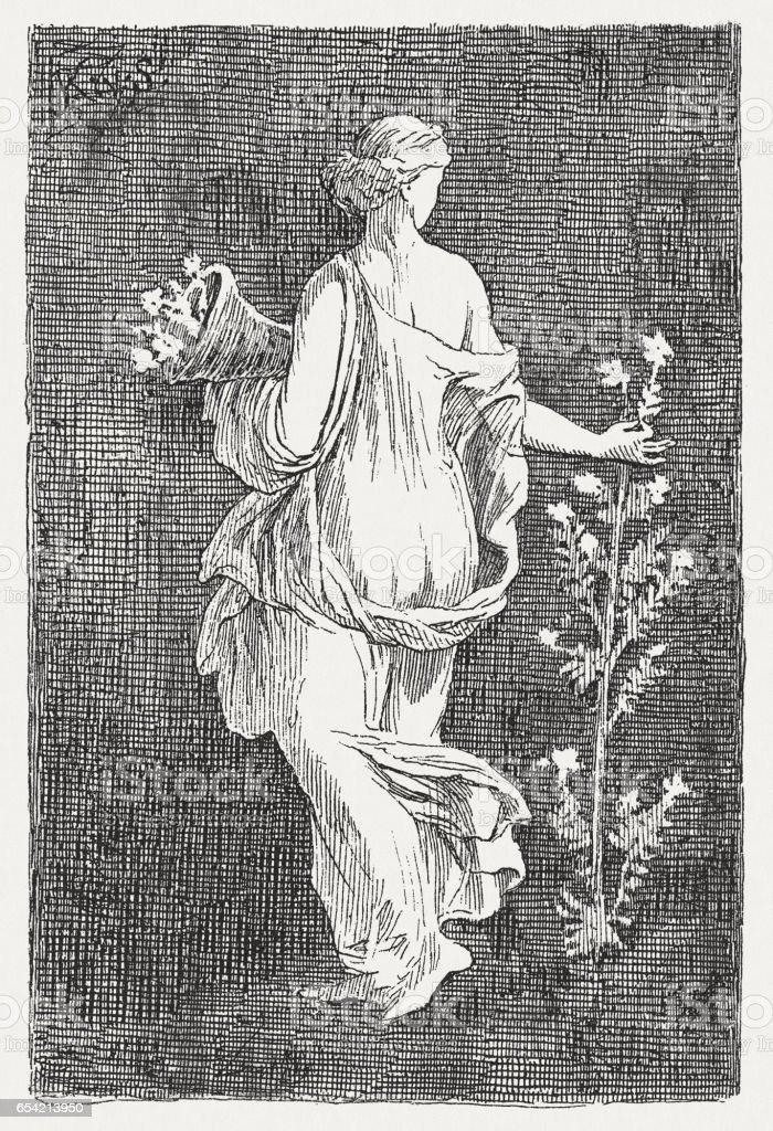1884 年に公開されたスタビアエ 春の女神フローラ - イタリアの ...