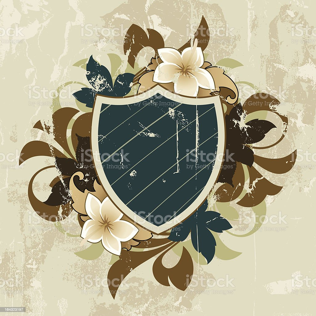 Floral abstract royalty-free stock vector art