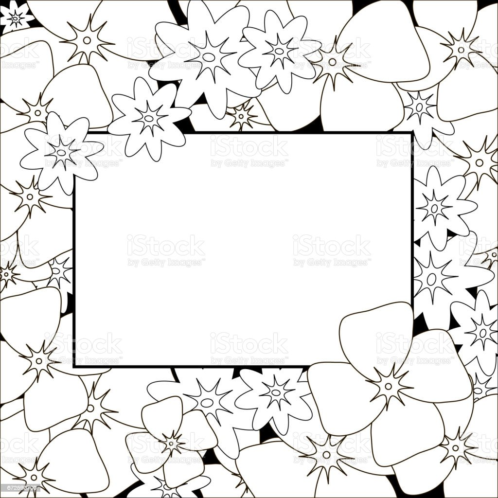 Floral Background Flower Bouquet Vintage Cover Flourish Card With