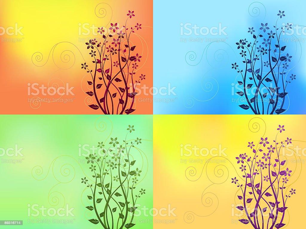 Floral Hintergrund – Vektorgrafik