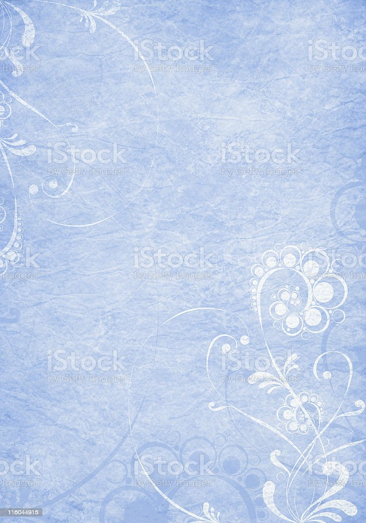 floral background on blue crumpled paper royalty-free stock vector art