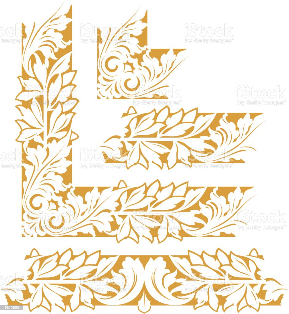 Floral Border royalty-free floral border stock vector art & more images of art nouveau