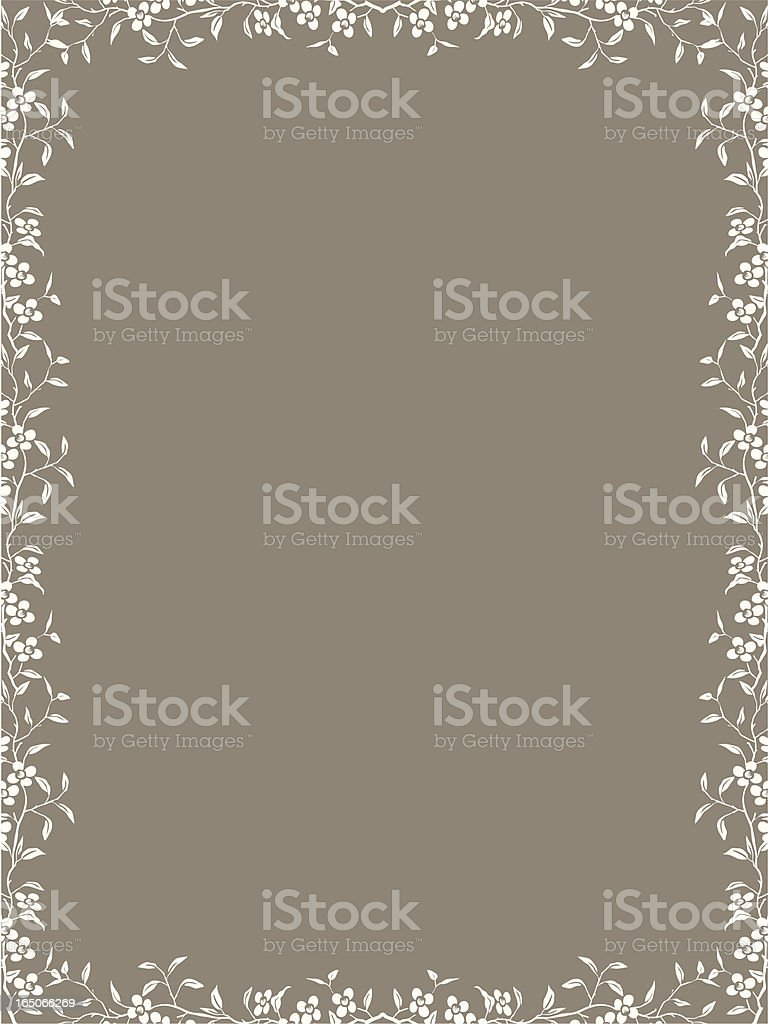 Floral border two royalty-free stock vector art