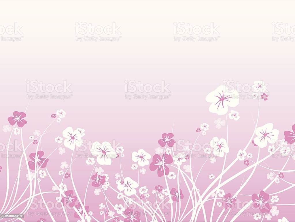Floral chaos - vector royalty-free stock vector art