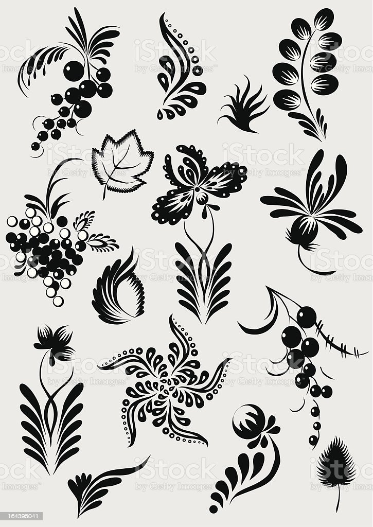 Floral collection. royalty-free stock vector art
